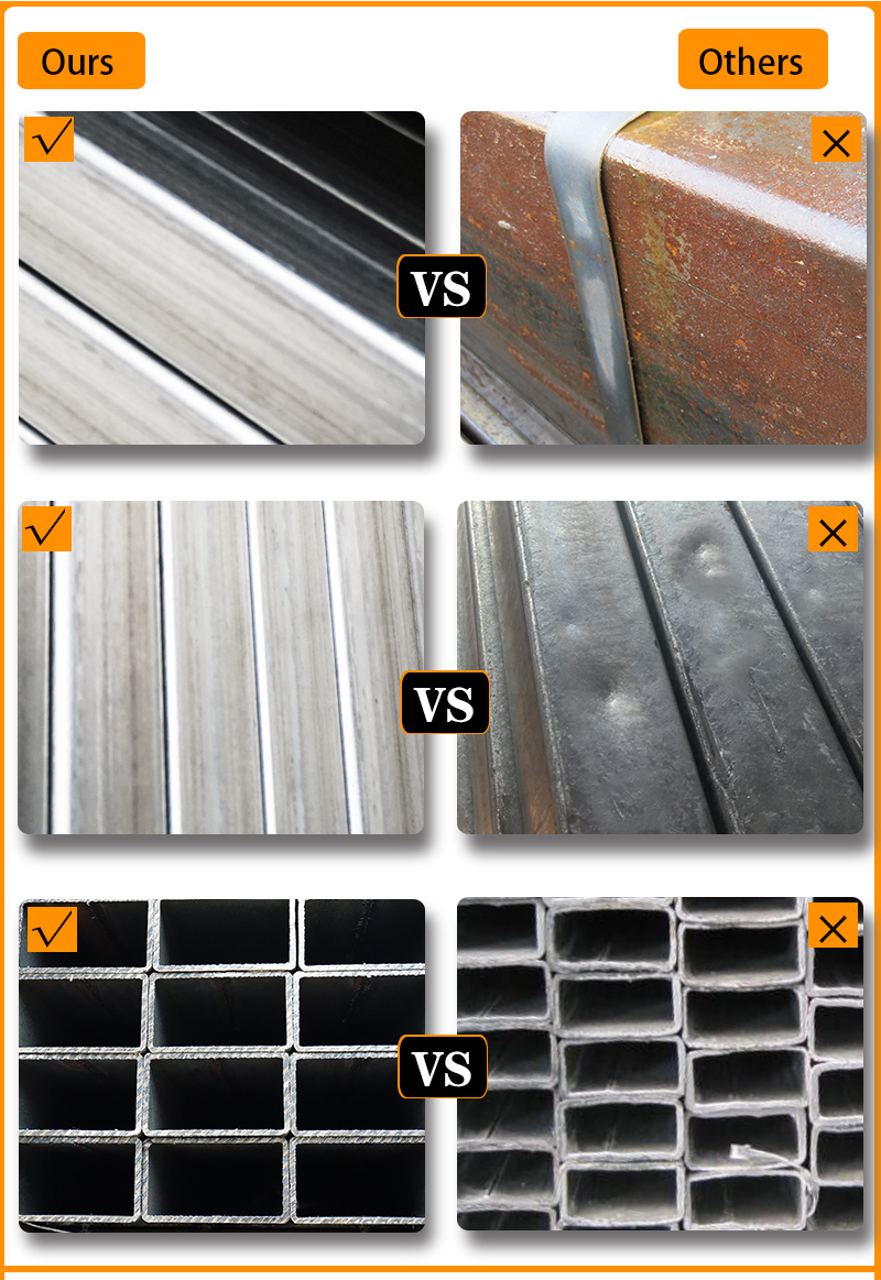 Galvanized Round Steel Pipe Comparison