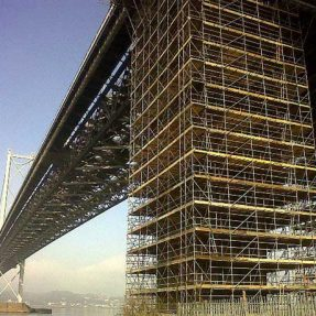 Scaffolding steel pipe in construction