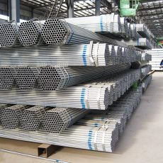 Galvanized steel pipe used for pipeline construction