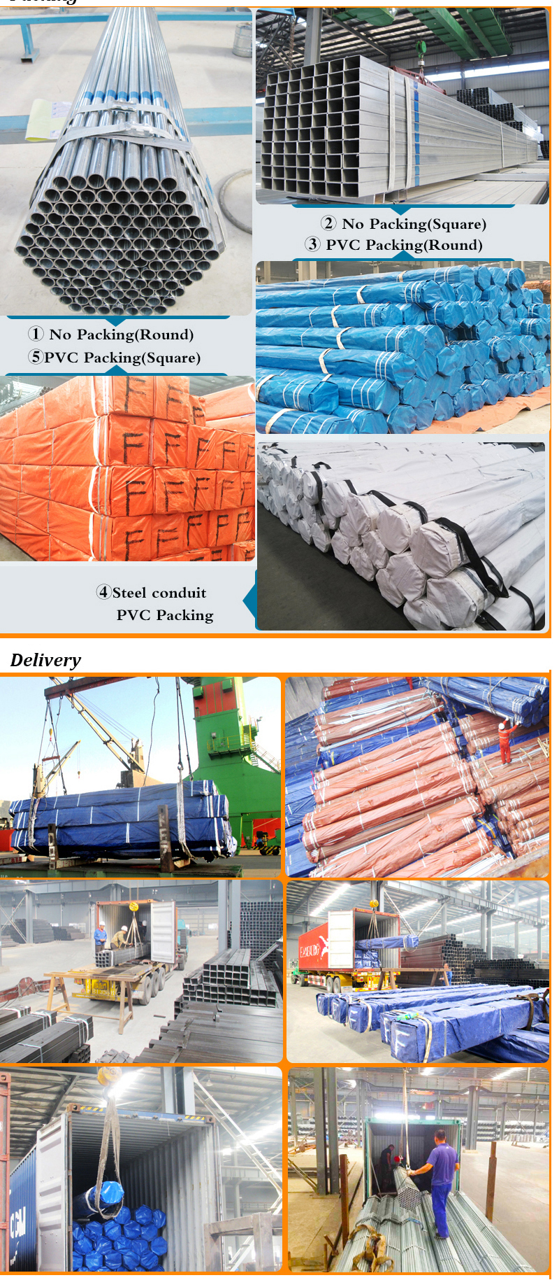 Galvanized Steel Pipe Packing